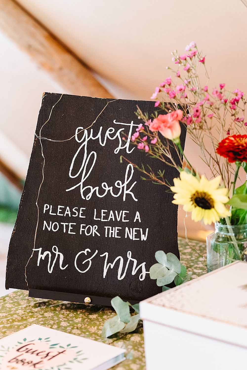 Guest Book DIY Tipi Wedding Fiona Kelly Photography