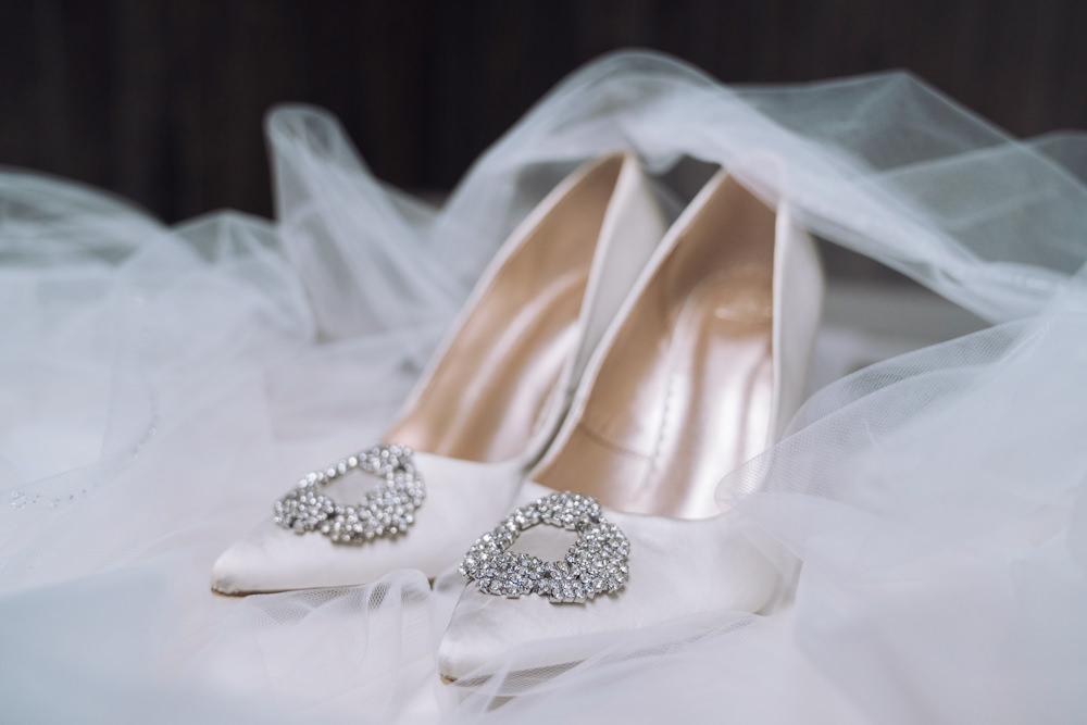 Shoes Bride Bridal Decadent Christmas Wedding Jessica Raphael Photography