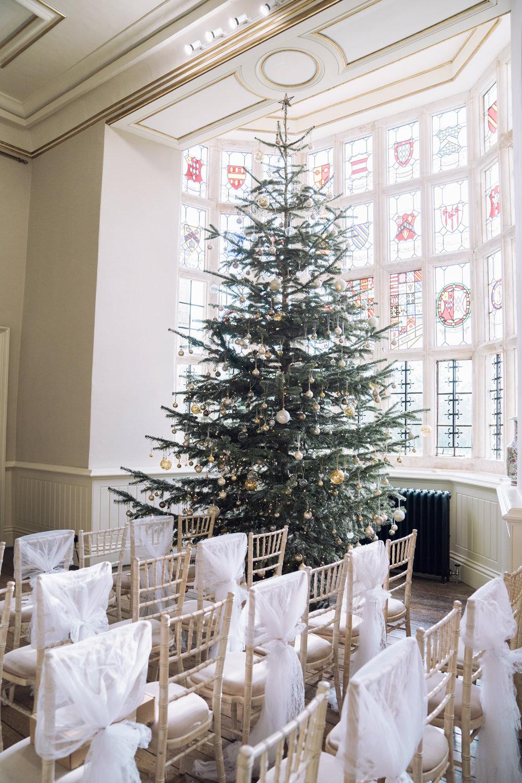 Tree Decadent Christmas Wedding Jessica Raphael Photography