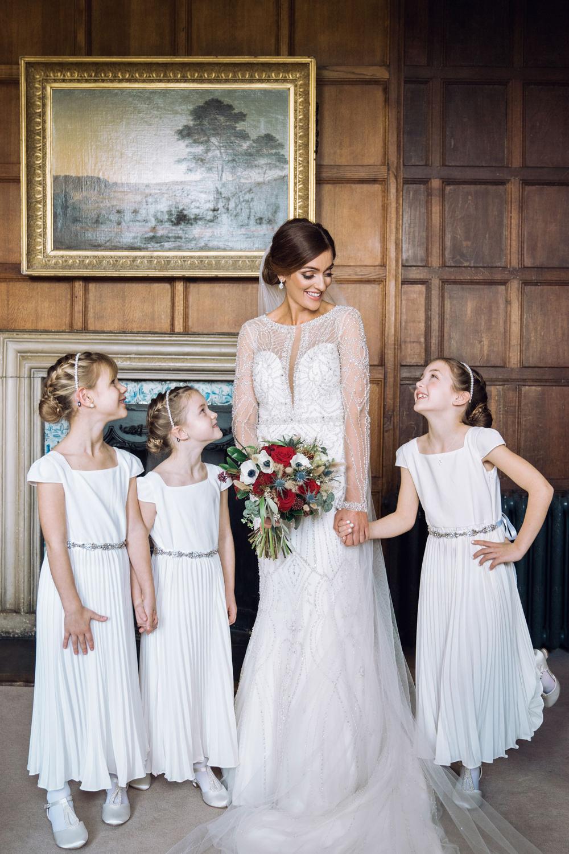 Flower Girl Dresses Decadent Christmas Wedding Jessica Raphael Photography