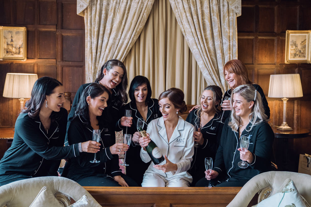 Bride Bridesmaids Dressing Gowns Robes Decadent Christmas Wedding Jessica Raphael Photography
