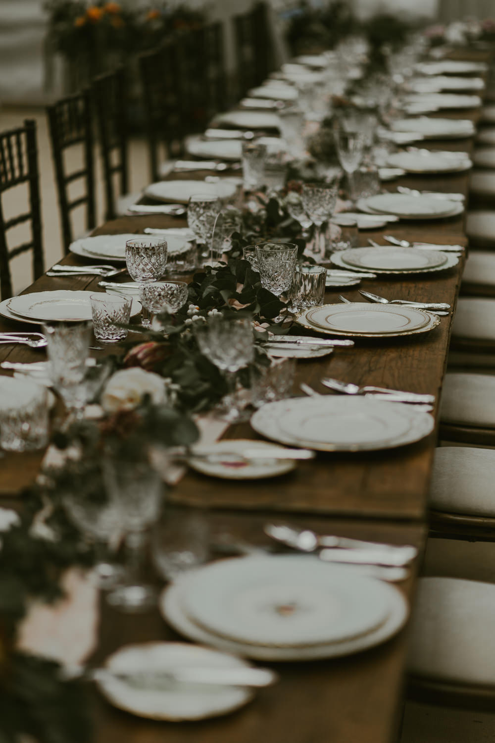 Table Tablescape Decor Greenery Foliage Table Runner Dreamy Woodland Wedding Ideas Jasmine Andrews Photography