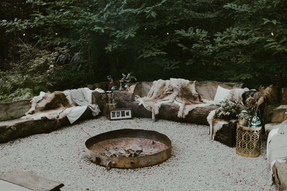 Seating Area Dreamy Woodland Wedding Ideas Jasmine Andrews Photography
