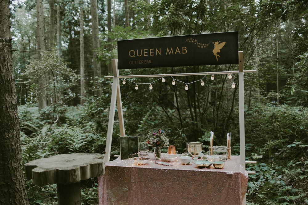 Glitter Bar Dreamy Woodland Wedding Ideas Jasmine Andrews Photography