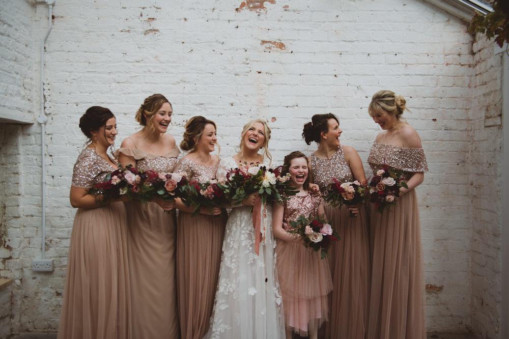 Bridesmaids Bridesmaid Dress Dresses Sequin Garthmyl Hall Wedding Sasha Weddings
