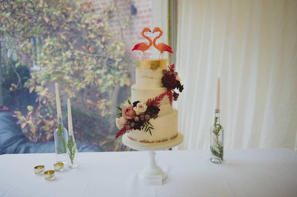 Buttercream Cake Flowers Floral Flamingo Topper Garthmyl Hall Wedding Sasha Weddings