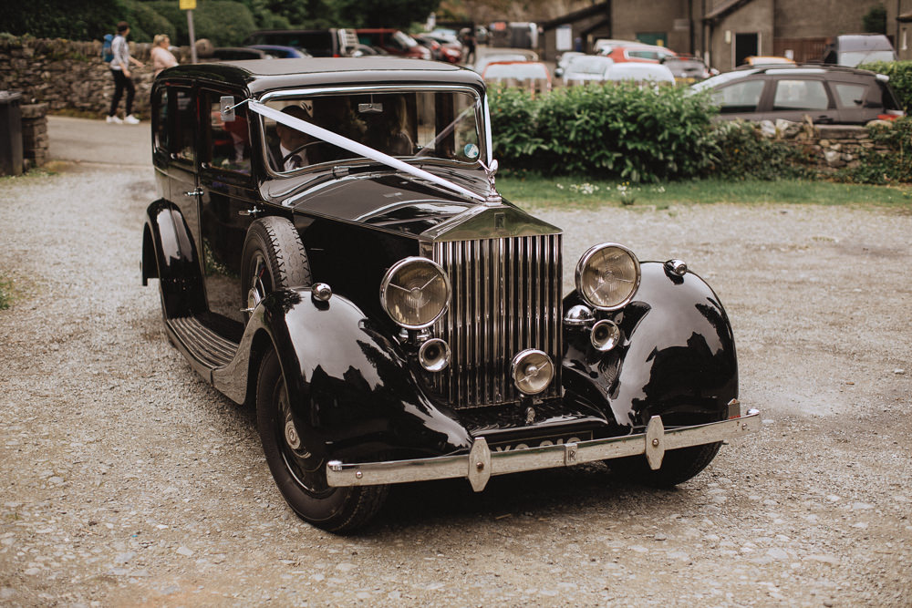 Classic Car Vintage Transport Natural Marquee Wedding Fox & Bear Photography