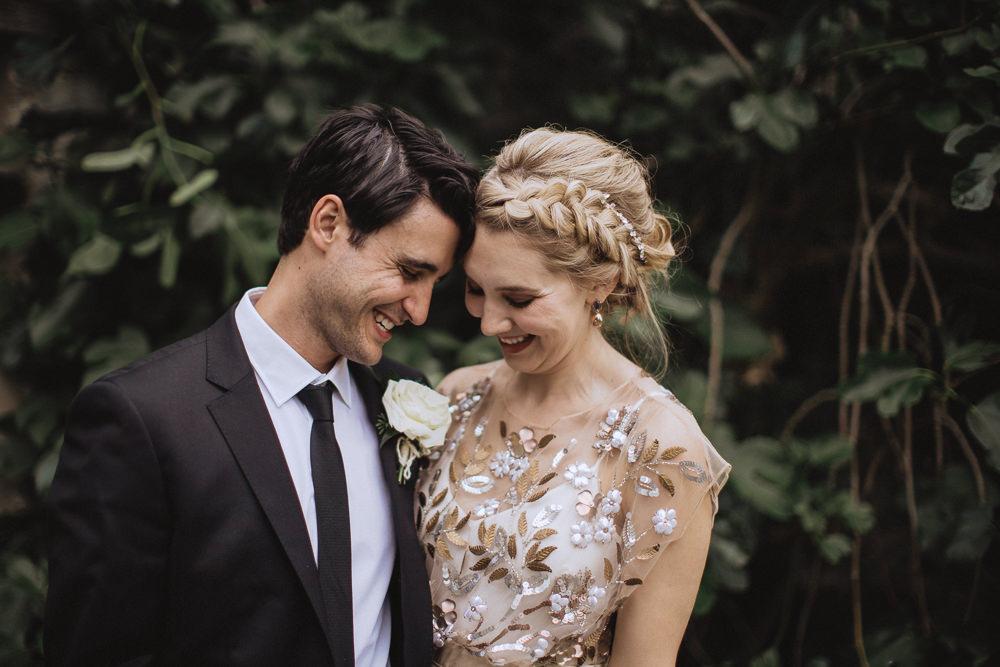 Bride Bridal Hair Style Up Do Braid Plait Natural Marquee Wedding Fox & Bear Photography