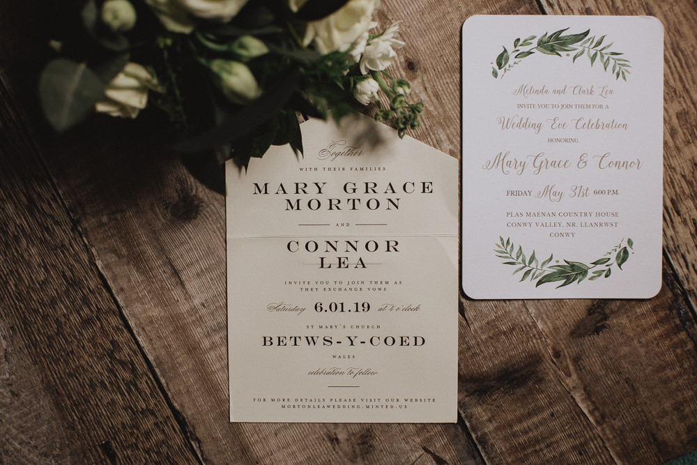 Stationery Invite Invitation Botanical Natural Marquee Wedding Fox & Bear Photography