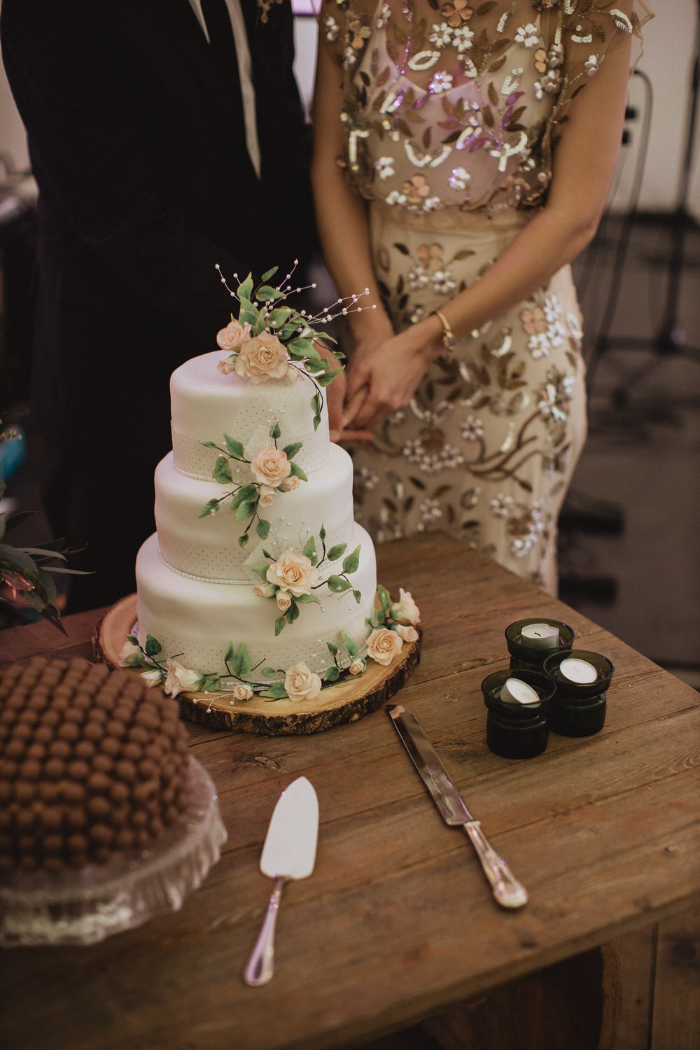 Floral Iced Cake Natural Marquee Wedding Fox & Bear Photography