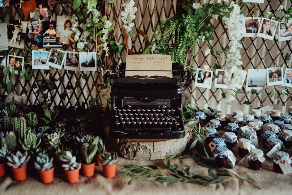 Favours Succulents Jam Cacti Pitt Hall Barn Wedding Emily & Steve Photography