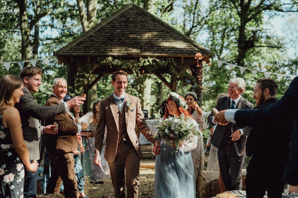 Confetti Throw Spillmans Copse Wedding Emily & Steve Photography