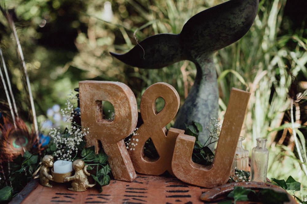 Letters Initials Pitt Hall Barn Wedding Emily & Steve Photography