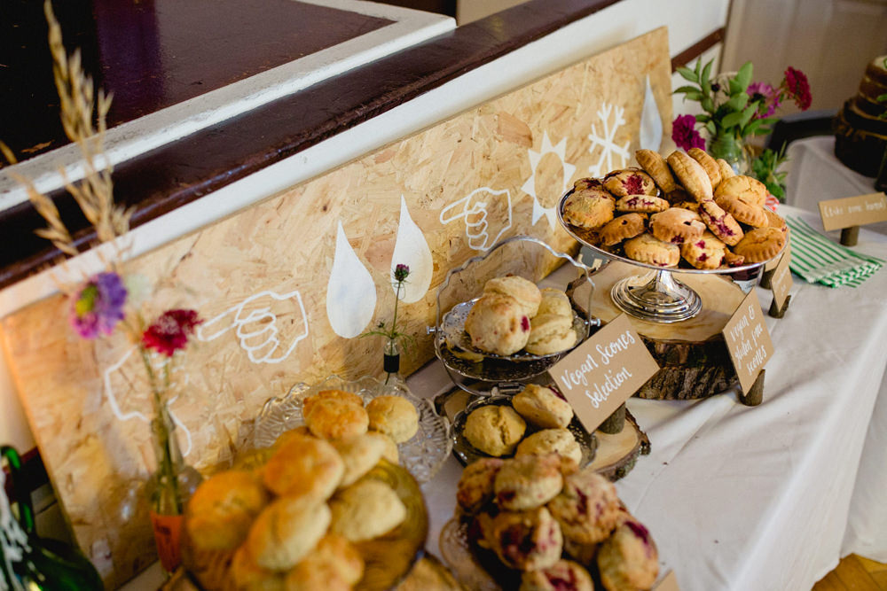 Scones Table Dessert Sheffield Town Hall Wedding Mark Newton Wedding Photography
