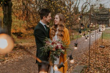 Simple & Unconventional Autumn Wedding in Mustard & Burgundy