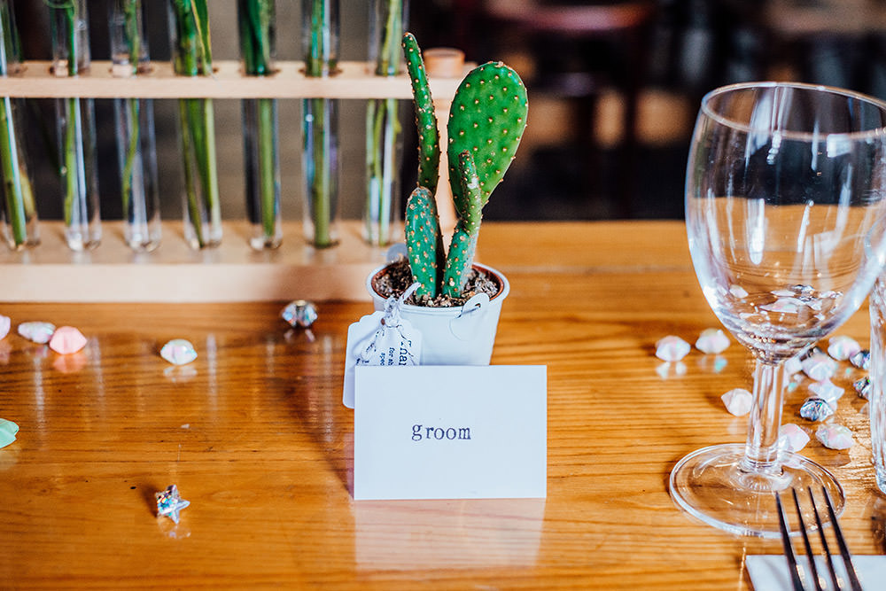 Cacti Favours Place Name Sparkly Wedding Anna Pumer Photography