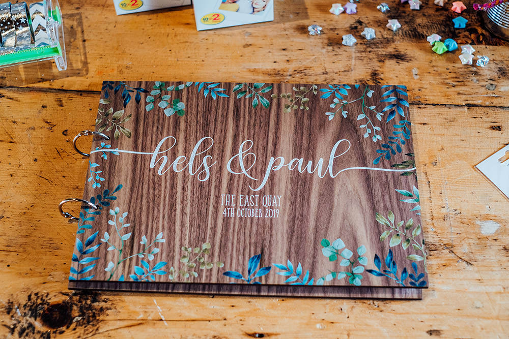 Wooden Guest Book Sparkly Wedding Anna Pumer Photography