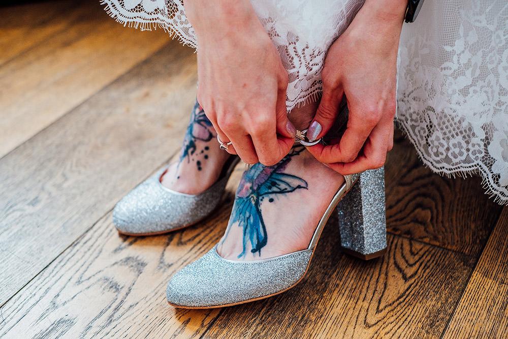 Silver Glitter Shoes Bride Bridal Sparkly Wedding Anna Pumer Photography