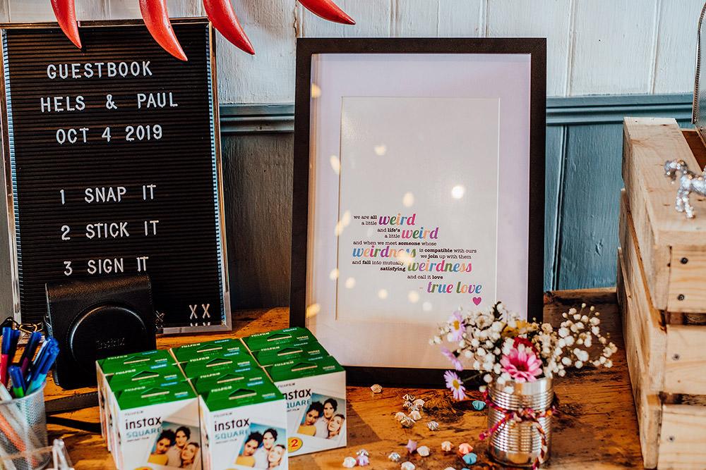Photo Guest Book Sparkly Wedding Anna Pumer Photography