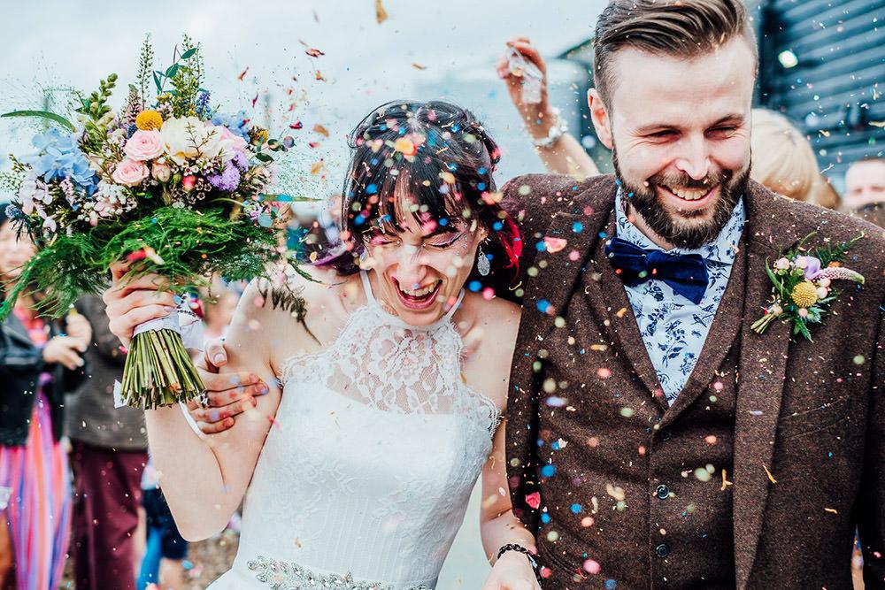 Confetti Sparkly Wedding Anna Pumer Photography