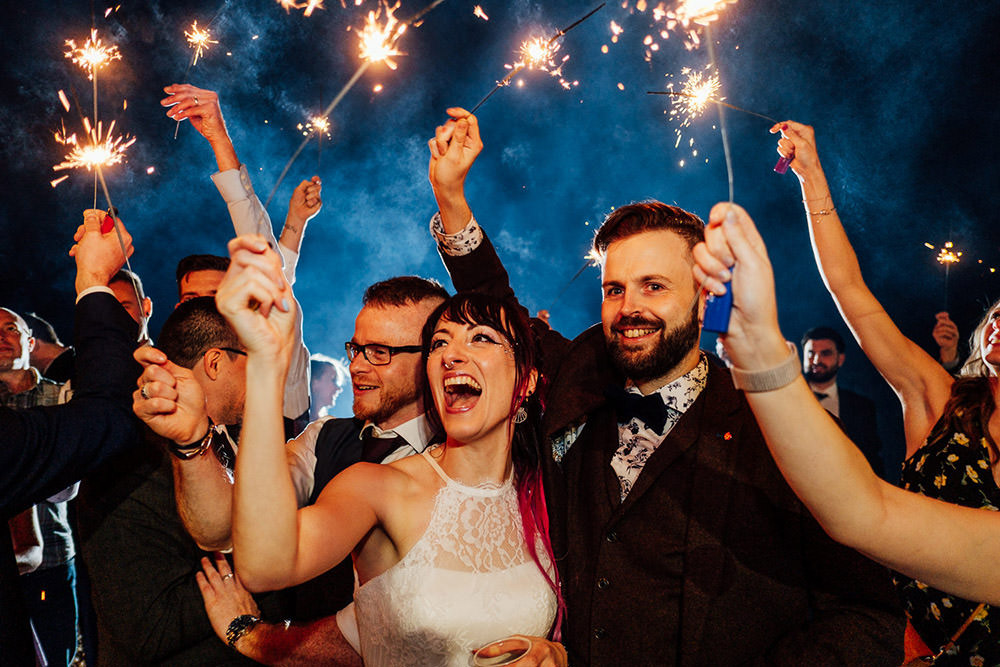 Sparklers Sparkler Send Off Exit Sparkly Wedding Anna Pumer Photography