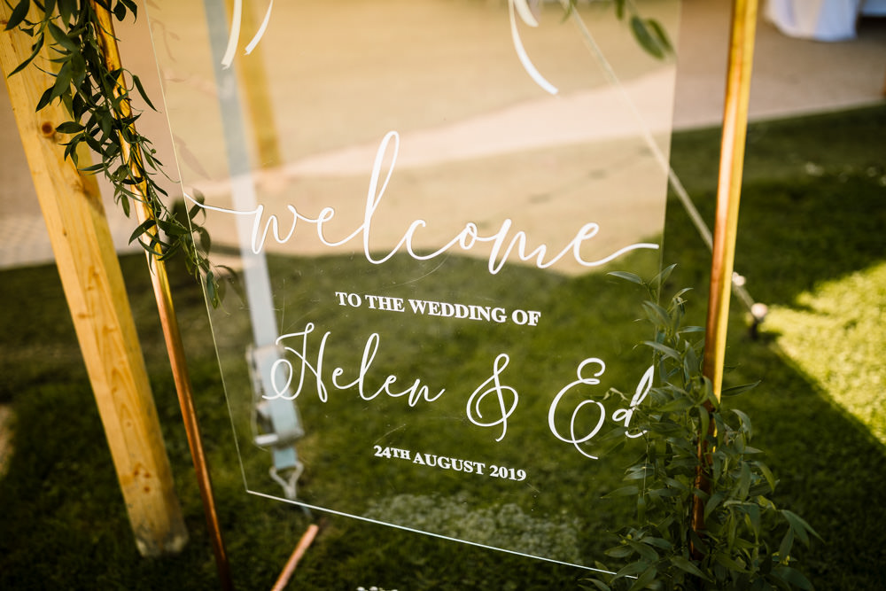 Perspex Acrylic Clear Sign Signs Signage Sperry Tent Wedding Hayley Baxter Photography
