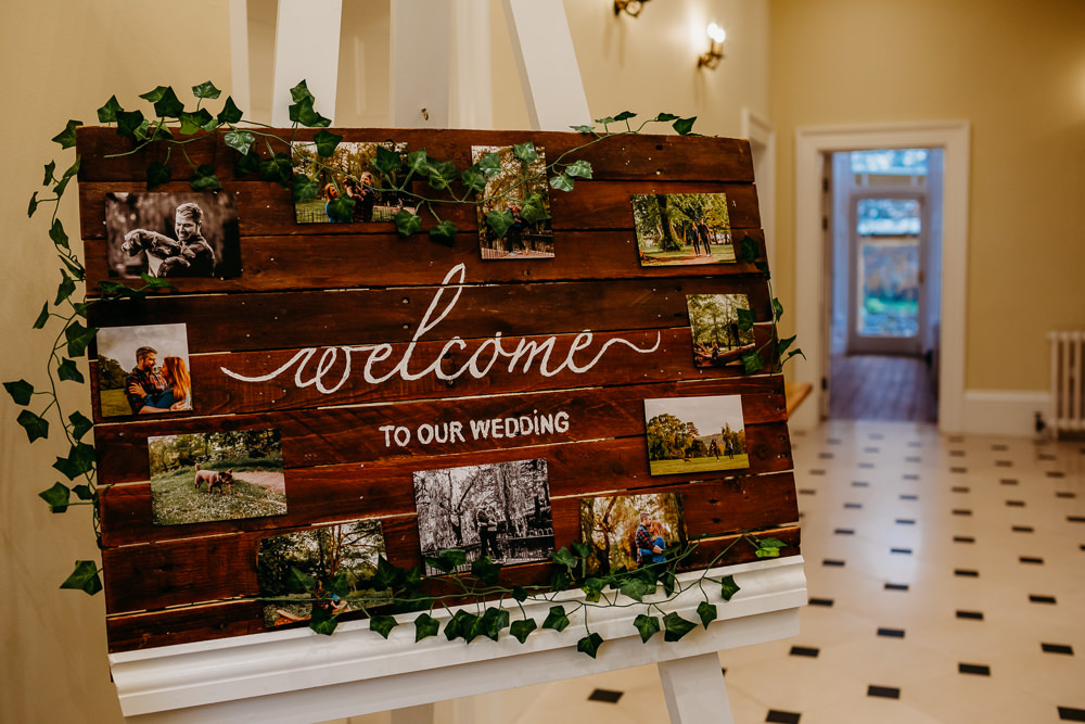 Wooden Welcome Sign Signs Signage St. Tewdrics House Wedding When Charlie Met Hannah
