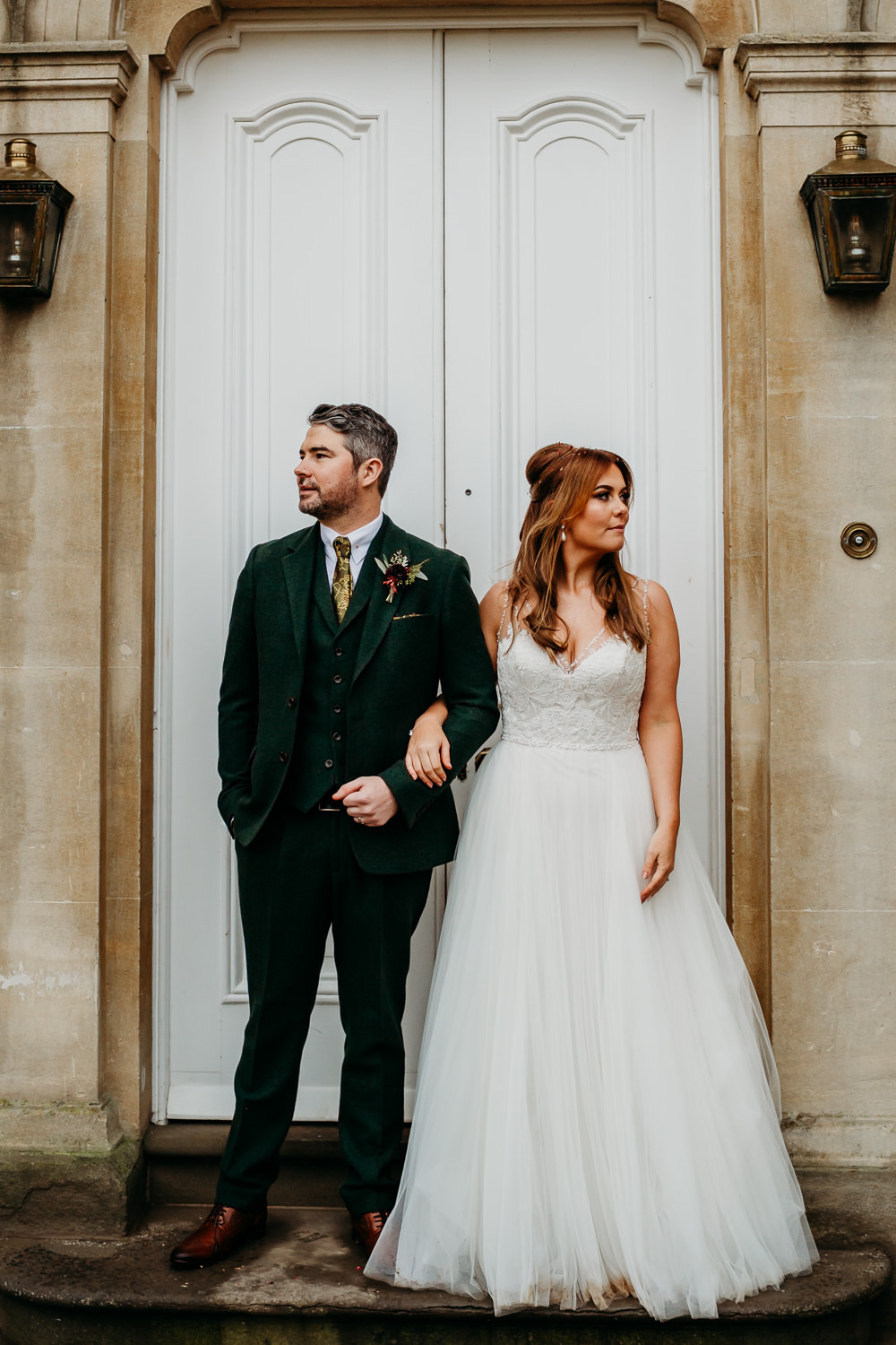 St. Tewdrics House Wedding When Charlie Met Hannah Dress Gown Bride Bridal a WToo Watters Tulle Skirt