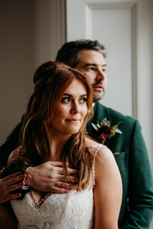 Bride Bridal Hair Half Up Half Down Style St. Tewdrics House Wedding When Charlie Met Hannah