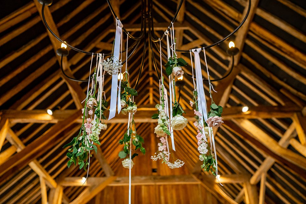Hanging Flowers Suspended Decor Stylish Rustic Wedding Mia Photography