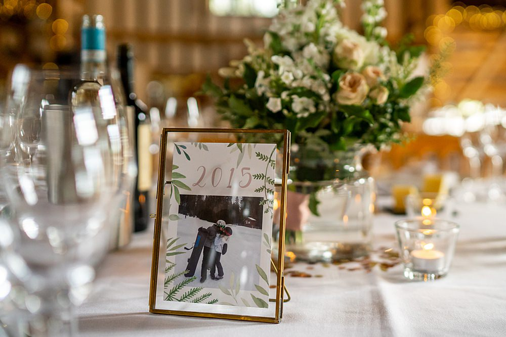 Photo Year Table Number Stylish Rustic Wedding Mia Photography
