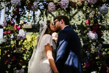 Floral Intimate & Happy Conservatory Wedding with a Moon Booth