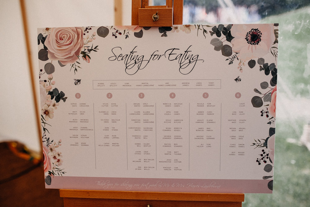 Table Plan Seating Chart Floral Tree Cathedral Wedding Milton Keynes Miracle Moments