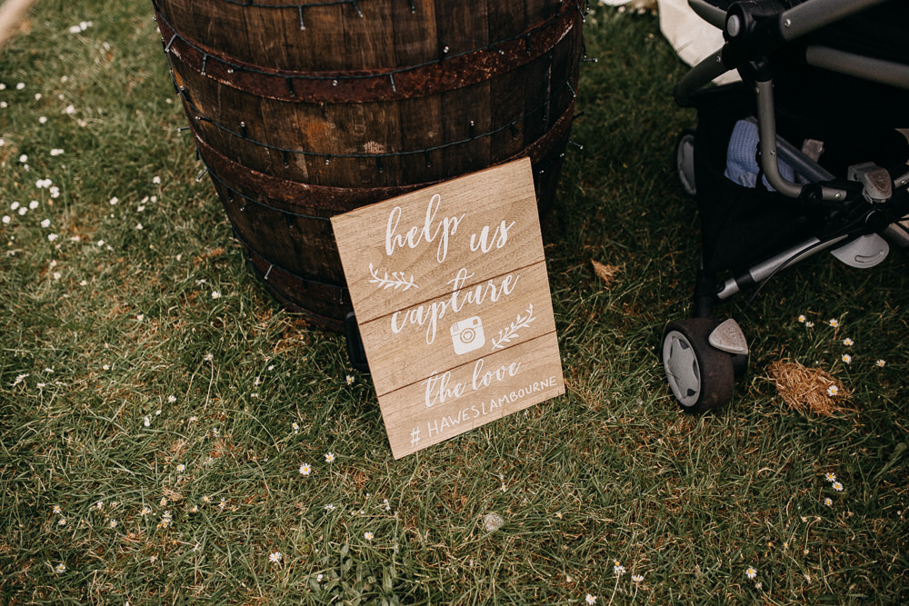 Wooden Hashtag Board Sign Signs Signage Tree Cathedral Wedding Milton Keynes Miracle Moments