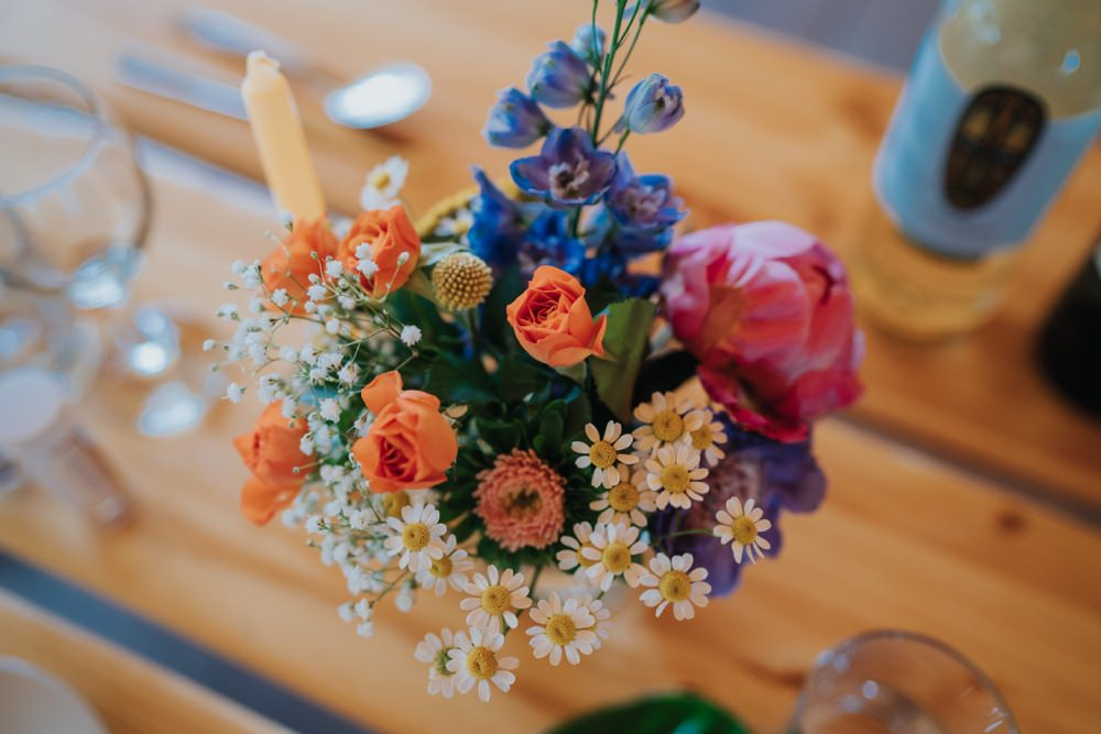 Flower Table Flowers Colourful Peony Daisy Animal Lovers Wedding Bloom Weddings
