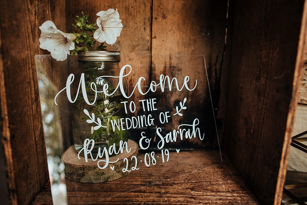 Perspex Acrylic Sign Signs Signage Welcome Boho Rustic Wedding This and That Photography