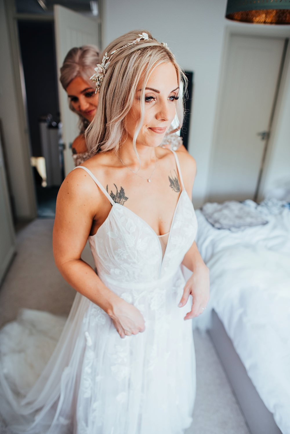Bride Bridal Dress Gown Fox Bridal Nude Straps Train Boho Rustic Wedding This and That Photography