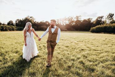 Boho Rustic Barn Wedding with a Bridal Cape & Tweed Suit