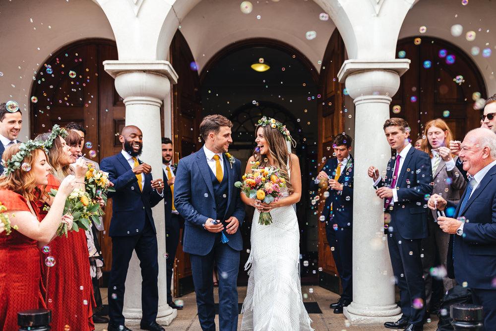Bubbles Confetti Brook Farm Wedding Kirsty Mackenzie Photography