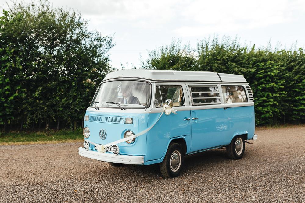 VW Camper Van Transport Brook Farm Wedding Kirsty Mackenzie Photography