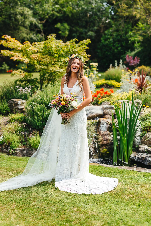Bride Bridal Dress Gown Veil Willowby by Watters Crochet Fringe Brook Farm Wedding Kirsty Mackenzie Photography