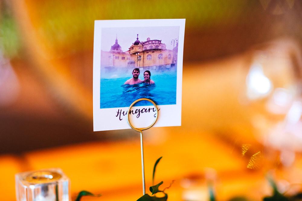 Polariod Table Names Brook Farm Wedding Kirsty Mackenzie Photography