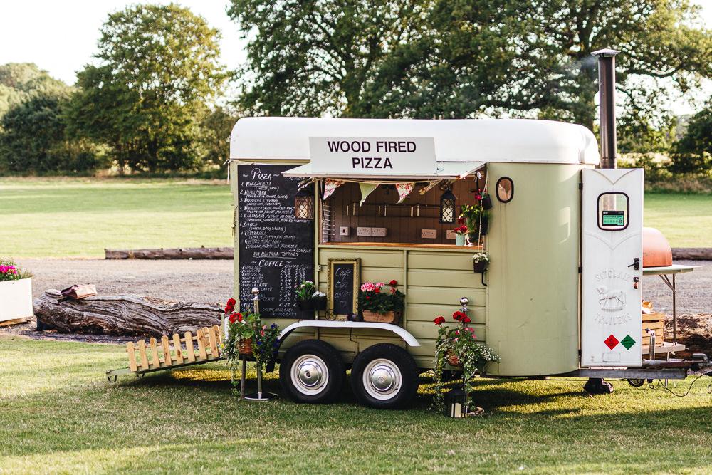 Horse Box Trailer Pizza Truck Brook Farm Wedding Kirsty Mackenzie Photography