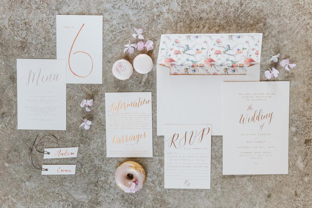 Stationery Invite Invitations Pink Pretty Cherry Blossom Wedding Ideas Sugarbird Photography