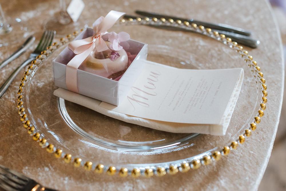 Donut Doughnut Favour Menu Place Setting Cherry Blossom Wedding Ideas Sugarbird Photography