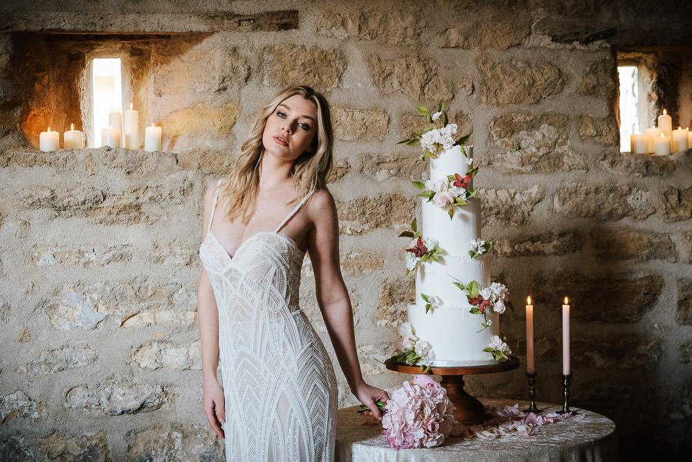 Dress Gown Bride Bridal Straps Train Lace Cherry Blossom Wedding Ideas Sugarbird Photography