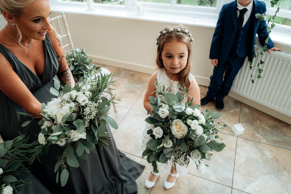 Flower Girl Bouquet Combermere Abbey Wedding Damian Brandon Photography