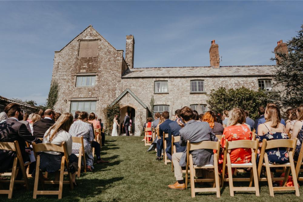 Outdoor Ceremony Literary Wedding Naomi Jane Photography