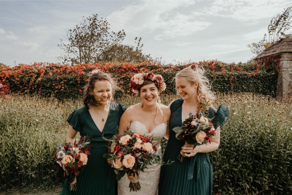 Green Bridesmaids Bridesmaid Dress Dresses Literary Wedding Naomi Jane Photography