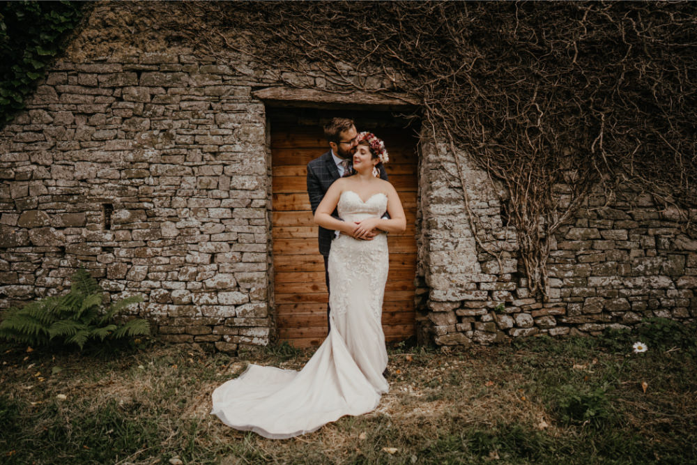 Bride Bridal Hair Make Up Dress Gown Strapless Lace Literary Wedding Naomi Jane Photography
